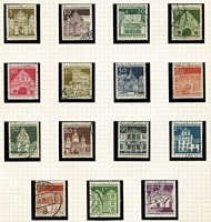 Lot 442 [2 of 4]:1889-1980s incl few earlies, Inflation period, 3rd Reich, few Allied Zones, later includes 1951-52 Posthorns 70pf, 1954-60 Heuss (20), 1964-69 Architecture 5pf-2Dm (15), many commems. (100s)