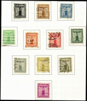 Lot 446 [3 of 6]:1933-45 Third Reich Collection in Leuchtturm album incl 1936 Brown Ribbon M/S, 1937 Hitler Birthday imperf M/S, 1937 & 1938 Winter Relief Funds, 1938 Officials (11), 1939 Motor Show 12pf+8pf, 25pf+10pf, 1940 Brown Ribbon on piece, also range of Bohemia & Morovia incl 1939 Opts (19), few Newspapers, Officials, Postage Dues, Luxembourg 1940-41 Opts (ex Hindenburg 15pf), Poland 1940 Officials (24), Red Cross set plus extra 12g+8g on FDCard, etc. Mixed condition.