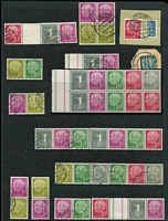 Lot 446 [3 of 4]:1949-97 Collection on 70+ Hagners with many better commems throughout, M/Ss incl 1959 Beethoven (2, one used, plus set of single stamps), numerous defins some with fluorescent papers, tête-bêche pairs, gutter pairs, booklet panes, etc. (2.4kg). (100s)