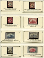 Lot 454 [2 of 2]:Collection In Seiger Album with part sets & singles mint or used including Cameroun, Marshall Islands Yachts (14) to 5m (tone spot), German East Africa, POs in Morocco 1905 60c on 50pf, 1pi on 80pf used, POs in Turkey, German South-West Africa 1901 3m Yacht used (slight thinning), also Carolines, POs in China, German New Guinea, Kiautschou, Marianas, Samoa & Togo. Odd blemish, some stamps expertised. Generally fine. (125+)