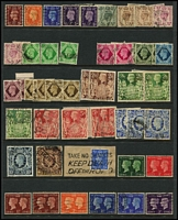 Lot 549 [2 of 4]:1880s-1990s Collection on 56 Hagners incl 1924 Wembly (2, MLH), 1939-48 High Values (6), 1951 Festivals (4), all used, 1986 Commonwealth Games PNC with £2 coin, range of later QE decimals MUH incl Castles to £5, London Life booklet, Postage Dues to £5, etc, with face value £145. (A$260+).