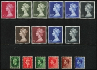 Lot 460 [2 of 4]:1940s-80s Commem Collection on 40+ Hagners with M/Ss, se-tenant strips & pairs, also range of Machin to £5, etc. (100s)