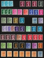 Lot 460 [3 of 4]:1940s-80s Commem Collection on 40+ Hagners with M/Ss, se-tenant strips & pairs, also range of Machin to £5, etc. (100s)