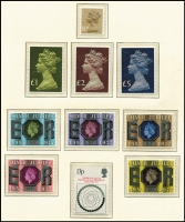 Lot 461 [3 of 3]:1952-83 Collection in 2 Schaubek hingeless albums with range of Wildings, few phosphor-graphites, Phosphor commems to 1962-64 Shakespeare, range of later phosphor commems, 1967-69 Machins to £1, 1968 No Wmk Castles (4), 1970-75 & 1982 Postage Dues to £5, range of Regionals, later commems, many unmounted. (100s)