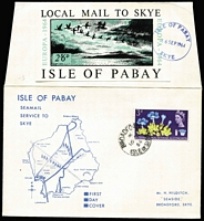 Lot 481 [1 of 7]:Locals Array 1960s-79 incl Caldey Island (3), Drakes Island, Herm (2), Isle of Pabay, Jethou, Sanda (3), also a Snark Island cover. (12)