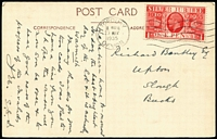 "Lot 484 [1 of 6]:1909-35 Group incl range of mourning covers (11), 1924 Australian High Commission cover, several covers to USA endorsed ""BERENGARIA"" (2), ""BREMEN"" or ""EUROPA"", perfin covers incl 'ATC' (Ardath Tobacco Co) (2), 'CPA' (Calico Printers' Assoc) (2) all to Australia, few Scottish 1934 1st flight covers (3), Wick-Kirkwall, Kirkwall-Wick, Kirkwall-Inverness, 1935 Jubilee with 1d (5) or 1½d (5) values on cards or covers. Mixed condition. (80+)"