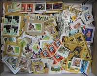Lot 92:PNG 550g On & Off-paper incl few FDCs & Packs. (100s)