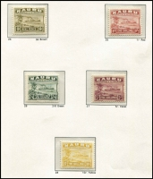 Lot 988 [2 of 2]:1924-48 Ships Shiny Paper ½d to 10/- set, SG #26B-39B, Cat £200. (14)
