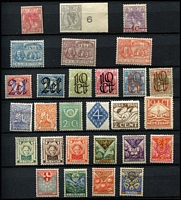 Lot 480 [2 of 2]:Stockbook with pre WWII issues incl 1923 Imperf 5c & 10c, 1927 Red Cross (5), 1928 Olympics (8), 1930 Rembrandt (3), range of Child Welfares, etc. Later issues incl coil strips of 5 with number on reverse, plus few recent used Euro values. Generally fine. (200+ & 3 covers)