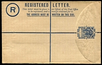 Lot 500 [1 of 3]:Registration Envelopes 1898-1977 Collection incl 1898 3d, 1908 3d, 1936 4d Mitre Peak (2, one used) 1932 'FOURPENCE' on 6d (2, one used), 1952 KGVI 6d EE10a, unused, QE II 9d (2), 1/-, 1/3d, 1/4d on 1/3d, 1/4d (with '6d additional...'), unused, few later, also selection of registered envs for 'WELPEX '72' set of six special pmks with labels, 'PANPEX 77' set of 8 with labels, 1980 Ploughing Exhib (4). (50+)