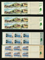 Lot 379 [3 of 3]:1947-93 Collection on Seven Seas hingeless pages incl 1960 Local Gov't, 1974 UPU (4 & M/S), 1987 Parrot strip, etc, few extra incl 9 booklets. (Few 100)