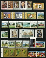 Lot 436 [2 of 3]:1967-94 Collection on 23 Hagners incl 1967-69 Ships, 1970-71 Birds, 1974 UPU (4 & M/S), 1987 Parrot strip, 1994 Explorers (12), etc. Retail $750. (Few 100)