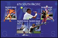 Lot 990 [2 of 2]:2002 6th South Pacific Games Unissued Miniature Sheets. These were withdrawn before issue for legal reasons. A small number were, however, sent to distributors. [See note in SG] (2)