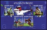 Lot 990 [1 of 2]:2002 6th South Pacific Games Unissued Miniature Sheets. These were withdrawn before issue for legal reasons. A small number were, however, sent to distributors. [See note in SG] (2)