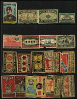 Lot 139 [3 of 8]:Matchbox Labels: world collection on 70+ Hagners incl Austria, Belgium 'Camp' Flags (40), 'Vivo' world views (33), China, Czechoslovakia 1965 Sport (34), Germany 'Rewe' (comical types-64), 'Vege' Coat of Arms (96), Berliner Morgenpost (20), India, Israel 1964 Olympics (18), Netherlands 'Spar' Inventors (52), 'Vlinder' Butterflies (20), Poland, Russia 1964 Olympics (16), Architects (9), Soldiers (16), Zoo (16), Composers (16), Ballet (16), Switzerland 'Usego' (32), Yugoslavia Costumes (20), etc. Many other types. Generally very fine condition. (100s )