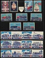 Lot 140 [2 of 6]:Matchbox Labels: Foreign collection on 48 Hagners incl Austria trains, Belgium Ford cars, China views-Canton, Peking, Czechoslovakia, Germany Horten cars, Hungary ships, Netherlands old cars, new cars, 'Pam' types, Poland dogs, fish, Portugal, Russia animals, ships, Yugoslavia city crests, ships, sport emblems, planes, etc. Very clean lot. (100s)