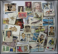 Lot 142 [2 of 2]:Trade Cards: Weeties/Vitabrits Leading Cricketers 17 of 32 plus few duplicates, plus a loose assortment of broken sets incl Allen's, Hoadley's, Sanitorium, Stamina 'World's Greatest Men', Weeties 'Favourite Dogs', etc. Mixed condition. (Few 100)
