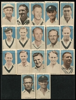 Lot 142 [1 of 2]:Trade Cards: Weeties/Vitabrits Leading Cricketers 17 of 32 plus few duplicates, plus a loose assortment of broken sets incl Allen's, Hoadley's, Sanitorium, Stamina 'World's Greatest Men', Weeties 'Favourite Dogs', etc. Mixed condition. (Few 100)