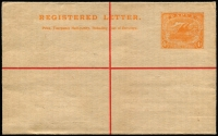 Lot 1077:1917 4d Orange, size G on old NSW stock, unused.