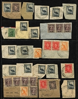 Lot 417 [2 of 5]:1948-53 Australia Used in PNG Group also 3 covers from the same period with 2 R.A.A.F. Concessions and a registered cover to Sydney. Mixed condition. (60 & 3 covers)