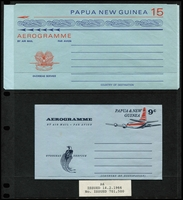 Lot 434 [3 of 6]:Aerogrammes: 1953-1974 Aerogrammes complete, unused. ACSC #5-14. (10)