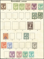 Lot 394 [2 of 2]:1879-1905 Collection incl 1897-80 6d, 1882-86 Large Chalons 2/6d (2), 5/-, 10/- (3), 1882-95 incl 1/- (2, shades), 2/- (2, shades), 1895-95 5d, 1897-1905 various to 2/-,1907-11 1/- (2), 2/- (2). High retail. Generally very fine. (45)