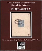 Lot 135:Australia -: Australian Commonwealth Specialists' Catalogue King George V (2014), paperback.