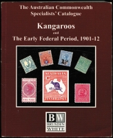 Lot 111 [1 of 3]:Australia: Brusden White Kangaroos & The Early Federal Period 1901-12, 2004 4th Edition 530+pp, King George V 2014 4th Edition 450pp both by Geoff Kellow and both well used. Plus SG Australia 2010 6th Edition, 292pp all paperback. (3)