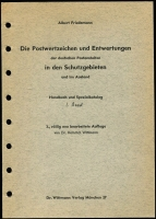 Lot 124:German Colonies: Die Postwertzeichen und Entwertungen der deutschen Postanstalten in den Schutzgebieten und im Ausland (Postage Stamps & Cancellations of the German Post Offices in the Protected Areas & Abroad) by Albert Friedmann Munich 1979. 3 Volumes in blue binders and German text. Odd pen notation throughout. (3.3kg).