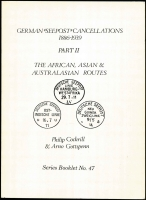 Lot 136 [1 of 3]:World Selection: incl German 'Seepost' Cancellations 1886-1939 Part II - The African, Asian & Australasian Routes by Cockrill & Gottspen, Newbury UK 116pp. The New Hebrides - Postal Stamps & Their History by Hals & Collas, New York 1967, 176pp. Revenue Stamps of Thailand - A Provisional Listing by Peter Collins, published by Thailand Phil. Soc. Dorset, UK 1979 20pp, All paperbacks. (3)