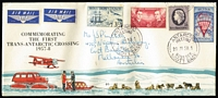 Lot 490 [2 of 4]:1957-82 Covers incl 1957 set on FDC, 1958 Antarctic Meeting cds (2 different cds [see The Postmarks of Ross Dependency by Jurisich]), 1963 Maiden Voyage of HMNZS 'Endeavour' to Antarctica with cachet, 1963 Vice-Regal Visit cds, RNZAF 'Operation Icecube' signed covers (7 different) with cachets (some coloured) on front & reverse, etc. 1963 Maiden Voyage to Antarctica of 'HMNZS Endeavour' with cachet, 1963 Vice-Regal Visit cds, RNZAF Operation Icecube 10 (2), 11 (2), 13, 14 & 15 signed covers with cachets (some coloured) on front and backs of covers, 1982 25th Anniv of 1st Flight in the Antarctic. (15)