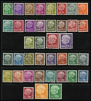 Lot 2257 [2 of 2]:1957 (1 Jan-25 May) & (Nov-Dec) Definitive sets, fine used. Mi #380-99,409-28, Cat €195. (40)