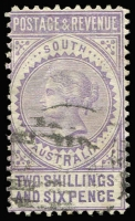 Lot 1141 [3 of 3]:1886-96 'POSTAGE & REVENUE' 2/6d, 5/- & 10/-, SG #195-7, fine used. Retail $185. (3)