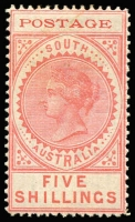 Lot 986 [1 of 2]:1902-04 Thin POSTAGE selection incl 3d (2), 4d (2), 8d, 9d, 10d, 1/-, 2/6d, 5/-, 1904-11 Thick POSTAGE 9d, 10d, 2/6d, 5/- & £1. Mixed condition. (15)