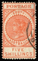 Lot 387 [2 of 2]:1904-11 POSTAGE P12 5/- (thin), 10/- green, SG #290-91, Cat £198. Retail $160 (2)