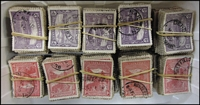 Lot 404:1899-1912 Pictorials 1d & 2d 1,000 of each in bundles of 100. Possible postmark & variety interest. (2,000)