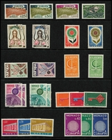 Lot 89 [3 of 4]:Europa Collection: on 80 Hagners incl Andorra (French & Spanish), Austria, Belgium, Cyprus, Denmark, Faröe Islands, Finland, France, Germany West, Gibraltar, Great Britain, Greece, Guernsey, Iceland, Ireland, Isle of Man, Jersey, Italy, Liechtenstein, Luxembourg incl 1956 (3), 1957 (3) both sets used, Malta, Monaco, Netherlands, Norway, Portugal, San Marino, Spain, Sweden, Switzerland, Turkey, Yugoslavia. High cat value. (2.3kg). (100s)