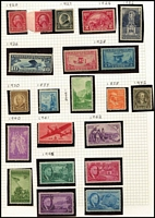 Lot 488:1920s-70s Collection many commems, few booklet panes, etc. Generally fine. (500+)