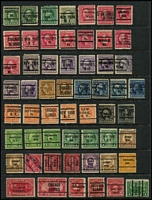 Lot 490 [1 of 4]:Pre-Cancels Collection on 9 Hagners with few on Parcel Post issues, Postage Dues, coils, many different types - 2 line, 3 line, etc, some misplaced opts, inverted or sideways opts, no apparent duplication. Generally fine. (460)