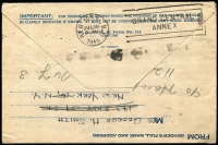 Lot 1734 [2 of 2]:1870 Cover to New Brunswick with 6d blue Washington, with grill, cancelled with 'HOLDEN/MAR24/MASS