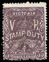 Lot 409:1879-97 Stamp Duty 35/-: fiscally used. Always in demand.