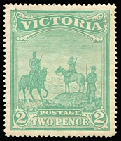 Lot 1297 [1 of 2]:1900 Empire Patriotic Fund 1d (1/-) & 2d (2/-), hinge remains and patchy gum. SG #374-75, Cat £425. (2)