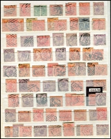 Lot 390 [3 of 5]:Barred Numeral Collection with 1,000+ incl 2R, 3R, 4Rs & 5R rated, plus 1,000+ additional examples, with light duplication, many on pairs, occasionallly on blocks; also duplex numerals and a miscellaneous section of postmarks incl 'Belt & Buckles', 'M.O&S.B.' types, coloured cancels, few Victoria used in Tasmania, etc. Wonderful lot for the postmark enthusiast. (1,000s)