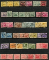 Lot 406 [2 of 3]:1860s-1912 Accumulation with values to 2/6d (2), 5/-, few Revenues incl 1893 1d & 2d postally used, few 'WA' & 'OS' perfins also several private perfins. Generally fine. (120+)