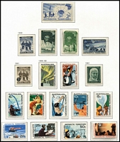 Lot 400 [1 of 2]:1957-2013 Collection in boxed 'DAVO' hingeless album almost complete to 2013 incl Singapore '95 Stamp Exhibition M/S, several packs, gutter pairs, se-tenant issues. Face value $100+. (130+ stamps, 4 packs & 4 sheetlets/M/Ss)