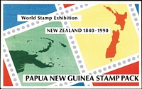 Lot 384 [3 of 4]:Pack Selection incl AAT (Face $17+), Cocos (Keeling) Islands (10) incl 1989 Sydney-Embden, 1990 Navigators, 1991 Starfish & Sea Urchins, 1993 Air-Sea Rescue, PNG (20) 1990s range. Also 1990s selection of Australian Maxi cards (19 sets still in sealed PO packets). (37 Packs, 19 sets of Maxi cards)