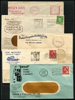 Lot 339 [1 of 2]:1937-63 Collection with various meters, illustrated covers, etc. Mixed condition. (48)