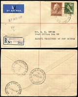 Lot 345 [1 of 7]:1940s-80s Cover Selection mostly from Queensland with FDCs, commem covers, instructional markings, few registered incl 1947 registered cover to Rabaul with 'BRISBANE EXHIBITION' cds & provisional label, Thursday Island 'PAQUEBOT' handstamp, 1955 'PAID AT WOOLLOONGABBA' cds, advertising, etc. Generally fine. (100)