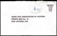 Lot 327 [2 of 6]:1990s-2000s Guide Dog mail on cover. Few Officials. Some postmark interest. Mixed condition. HEAVY LOT (8kg+). (100s)