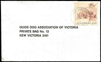Lot 327 [1 of 6]:1990s-2000s Guide Dog mail on cover. Few Officials. Some postmark interest. Mixed condition. HEAVY LOT (8kg+). (100s)